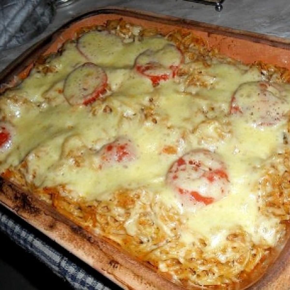 Tonhalas spagetti pizzakrémmel