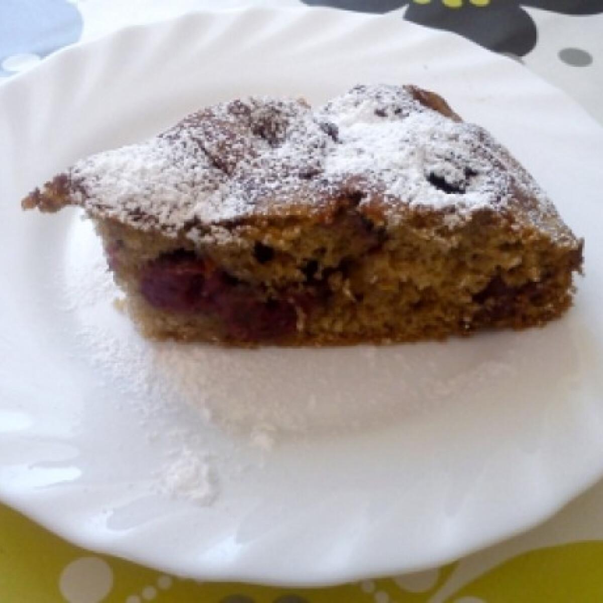 Fahéjas-meggyes süti
