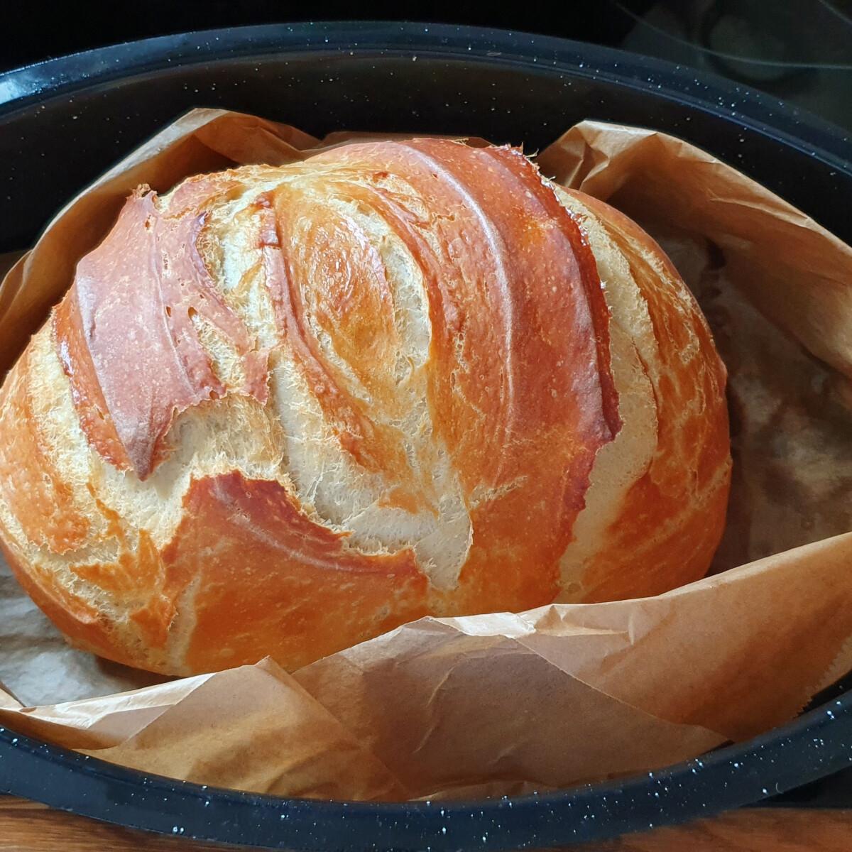 Ropogós héjú fehér kenyér (éjszakai kelesztéssel)