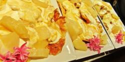 Gofri ananászkrémmel
