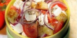 Krémfehérsajt-saláta