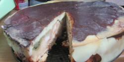Fordított vaníliás-kivis torta