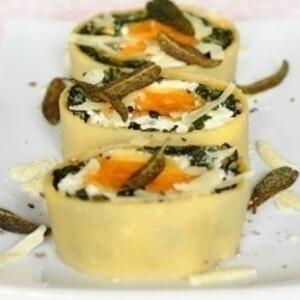Spenótos-ricottás-sütőtökös rotolo