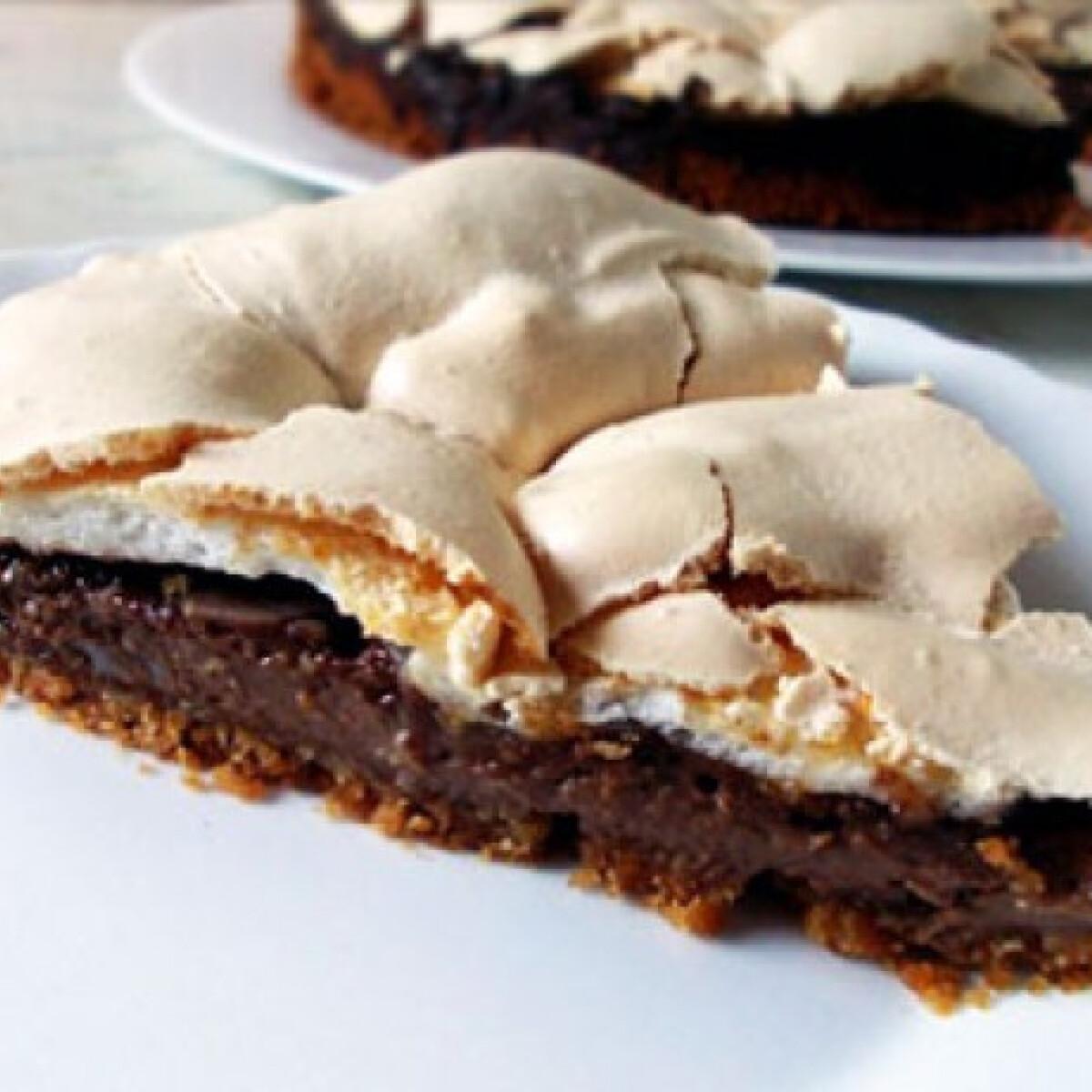 Csokis-tojáshabos torta