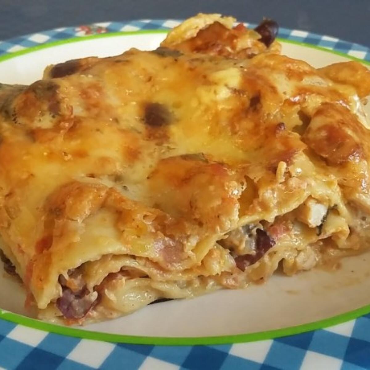 Ezen a képen: Zöldséges hamis lasagne
