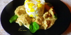 Safed Mie Gulabi-csirke curry