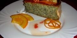 Különleges narancsos máktorta