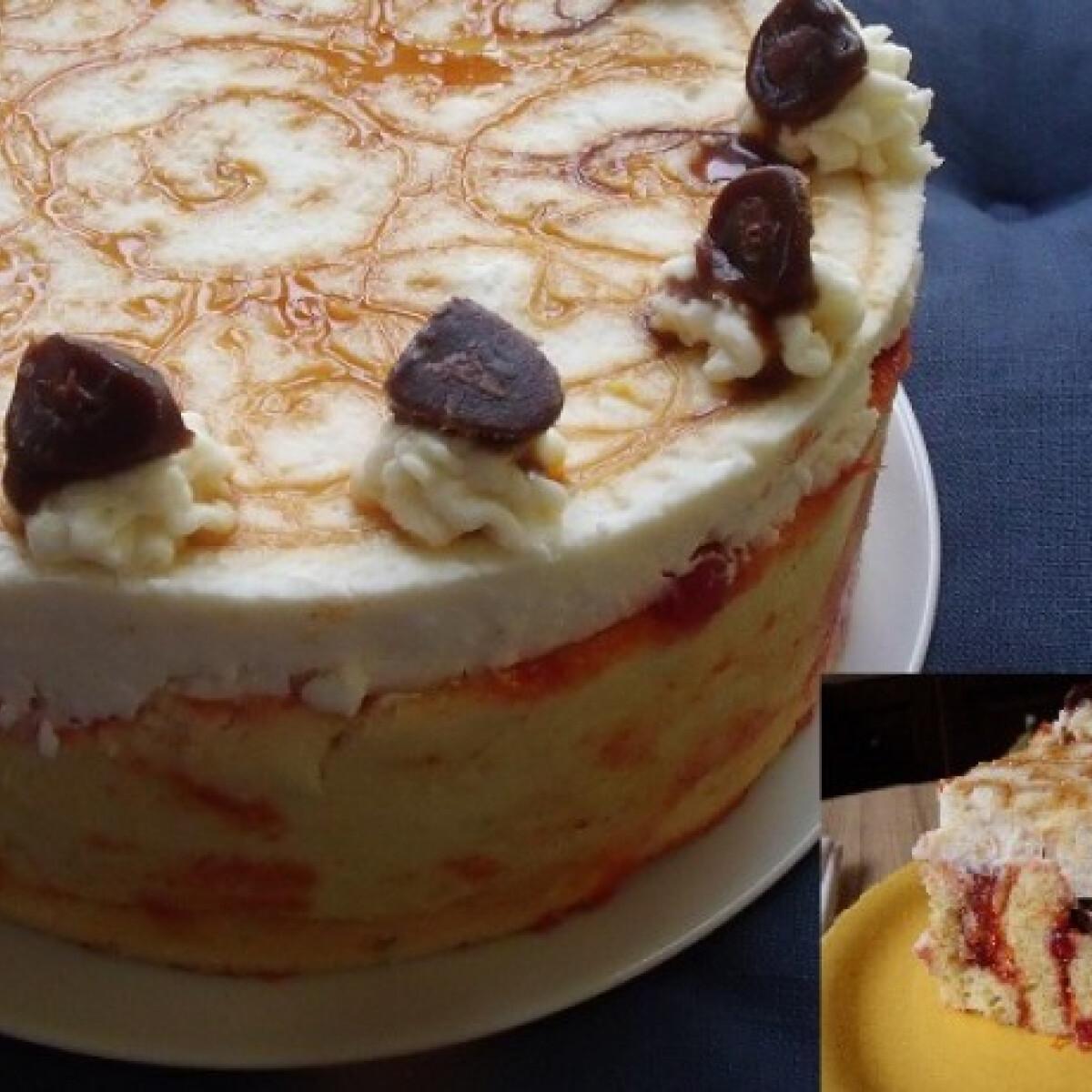 Pikáns sült paprikás torta