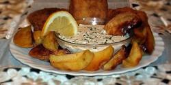 Rántott afrikai harcsa tepsis krumplival