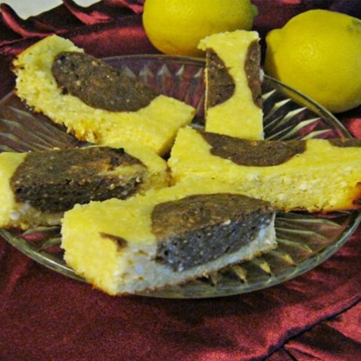 Ezen a képen: Diétás kétszínű citromos-túrós