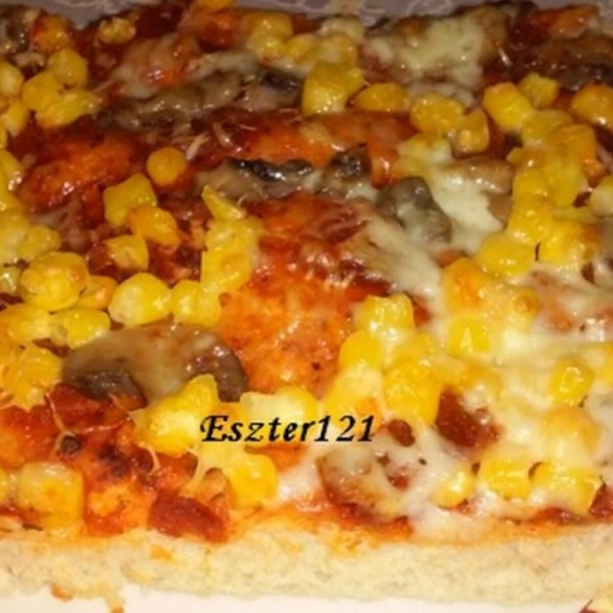 Ezen a képen: Pizzatészta szósszal Eszter konyhájából
