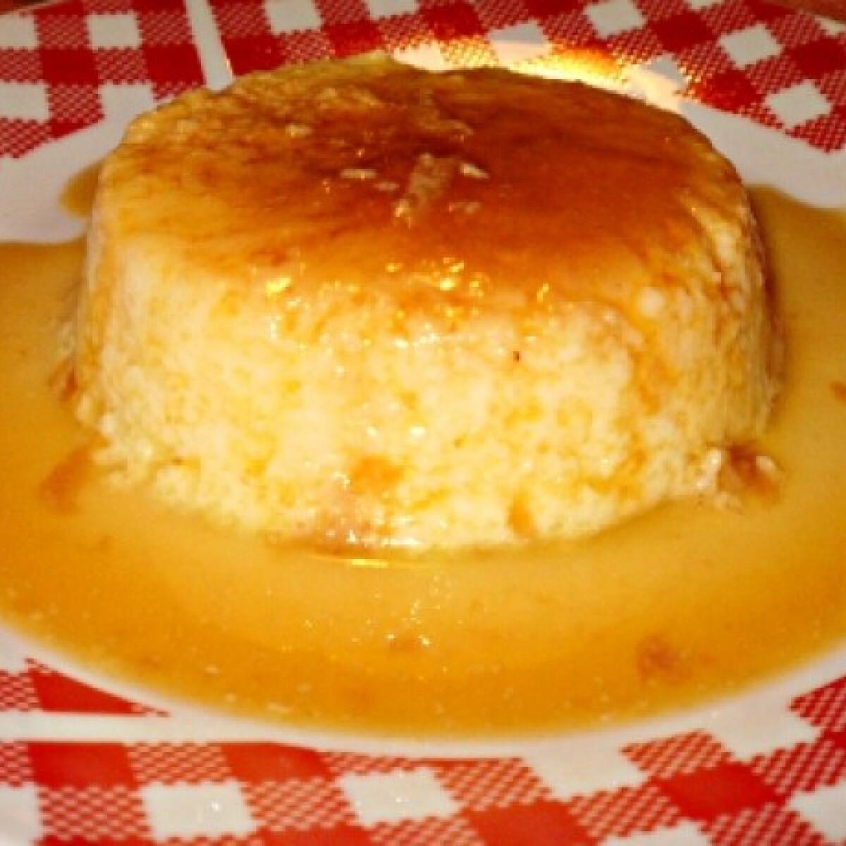 Ezen a képen: Créme Caramel tejsodóval