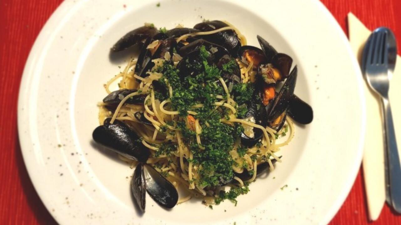 Fehérboros spagetti kagylóval