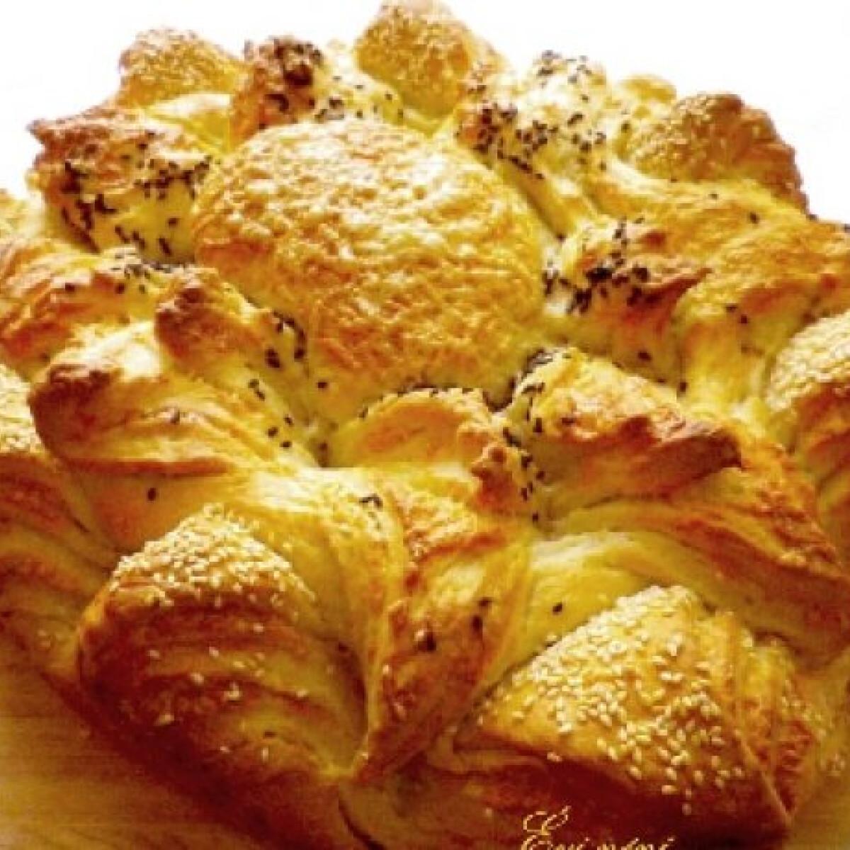 Ezen a képen: Sajtos-magos napraforgó kenyér