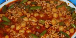 Mexikói chilis zöldbab és csicseriborsó