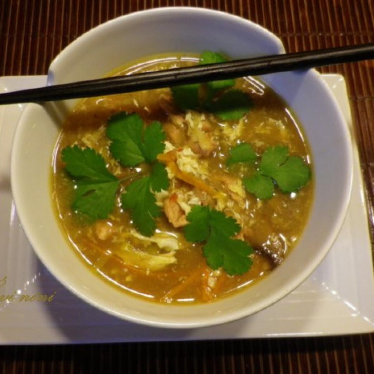 Ezen a képen: Kínai csípős-savanyú leves Évi nénitől