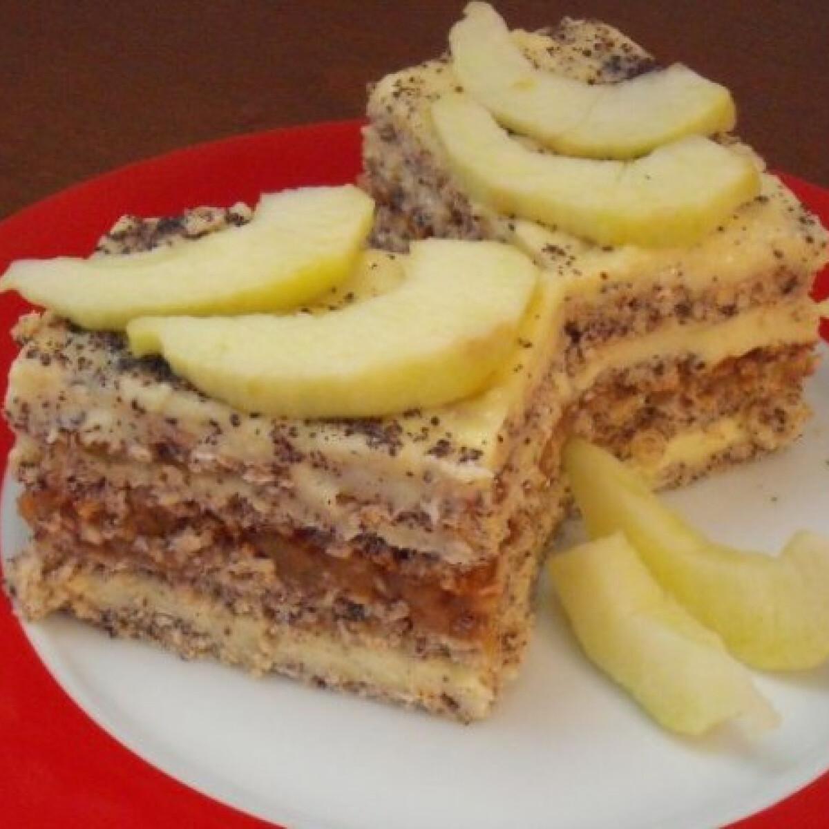Ezen a képen: Szabolcsi almás máktorta vujutkától