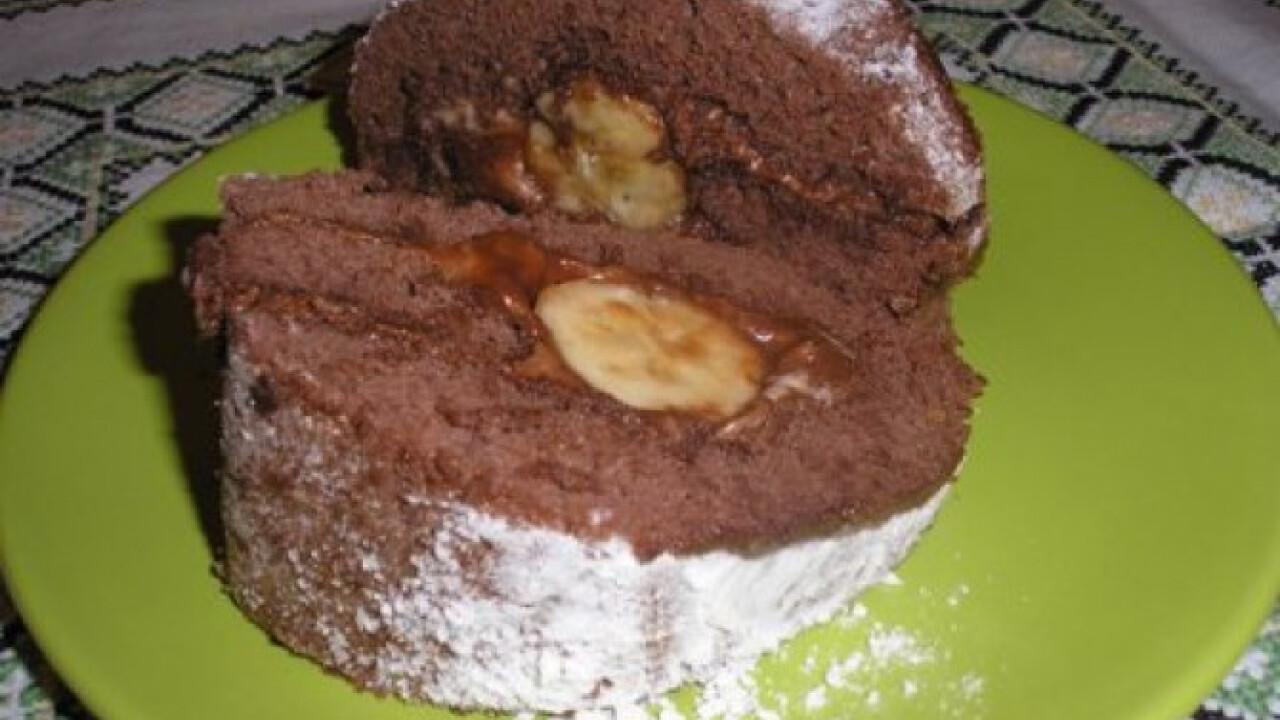 Csokikrémes-banános tekercs