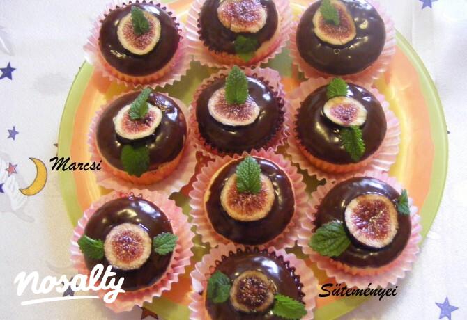 Ezen a képen: Fügés muffin Mara konyhájából