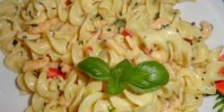 Tejszínes - garnélarákos tészta