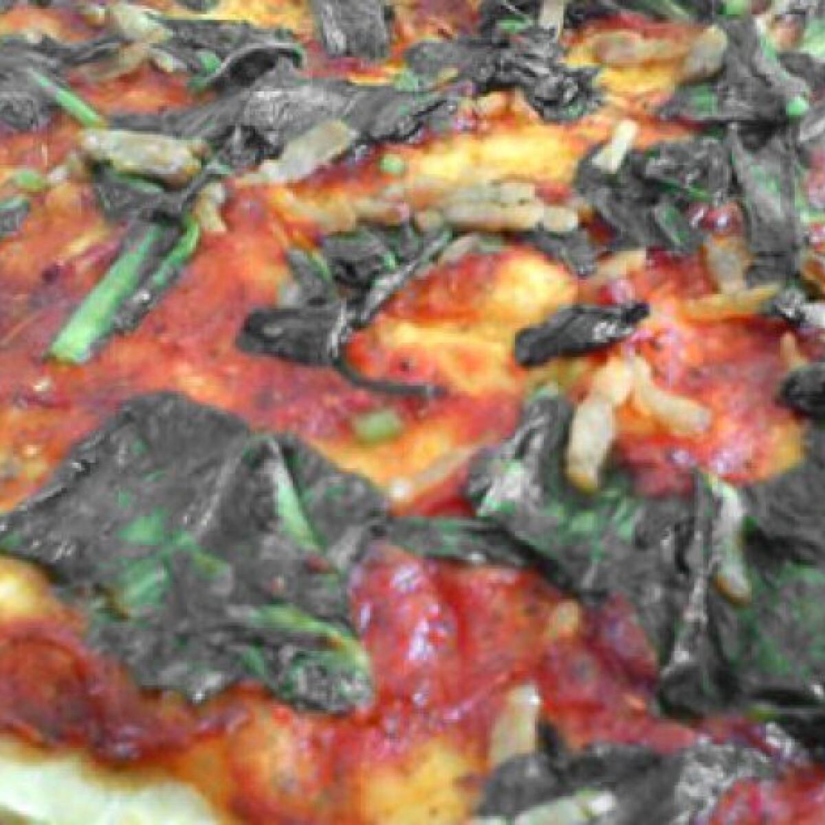 Ezen a képen: Pizza medvehagymával