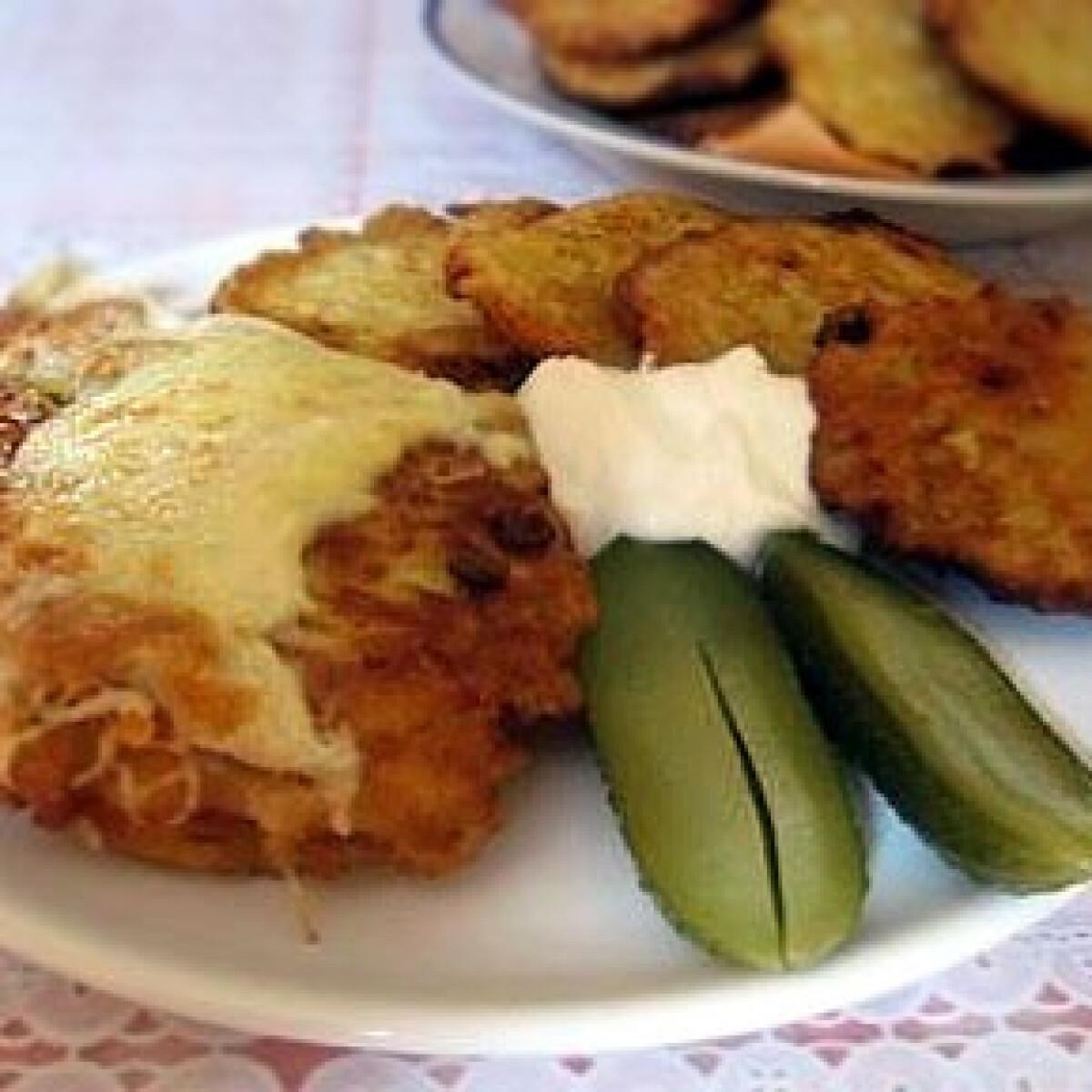 Sajtos csirkemell -Hús krumplibundában 3.
