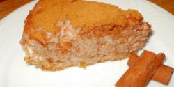 Fahéjas szilvás-almás tejberizs torta