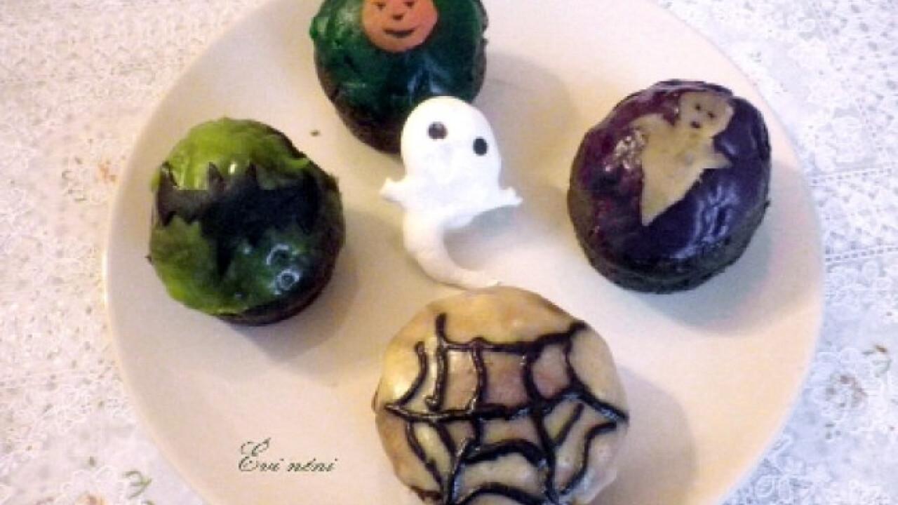 Fekete muffin Halloweenra