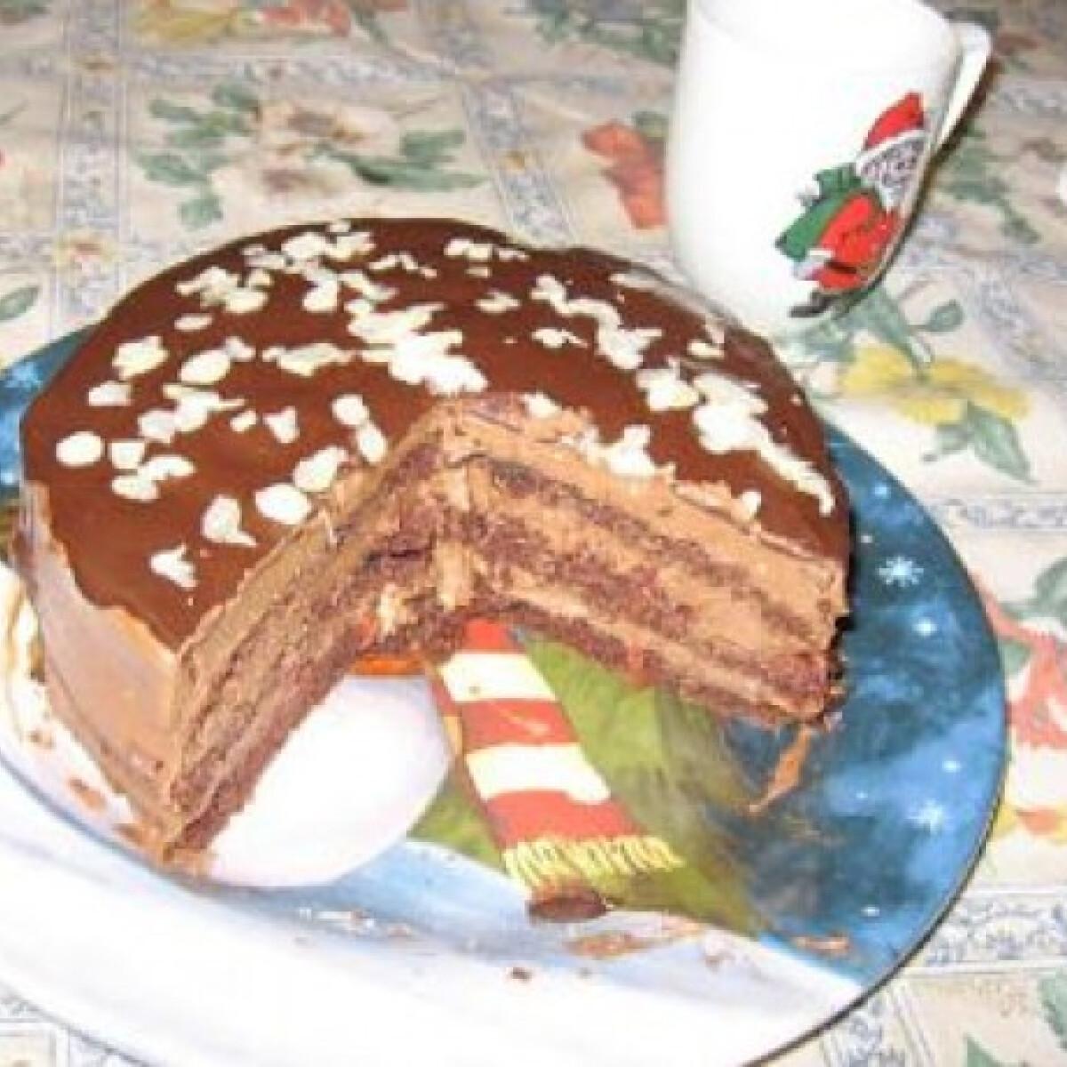 Ezen a képen: Csokis-meggyes torta Olga konyhájából