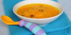 Joghurtos sárgarépafőzelék babáknak
