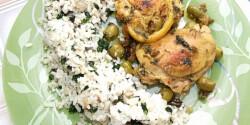 Citromos csirkecomb gombás rizzsel
