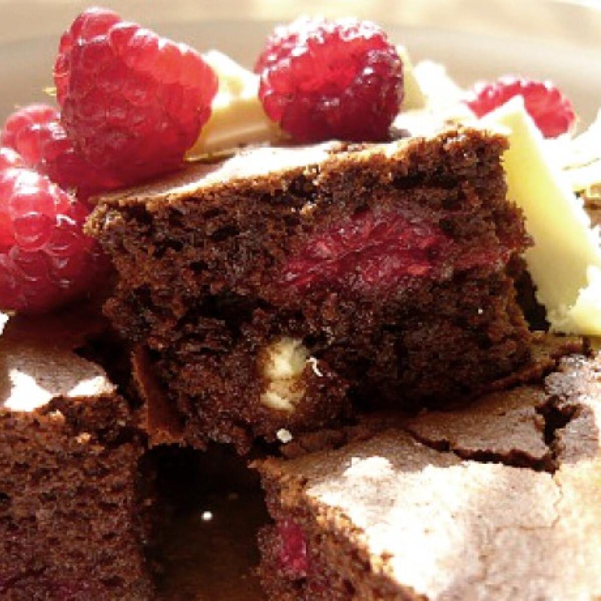 Málnás-csokis szelet