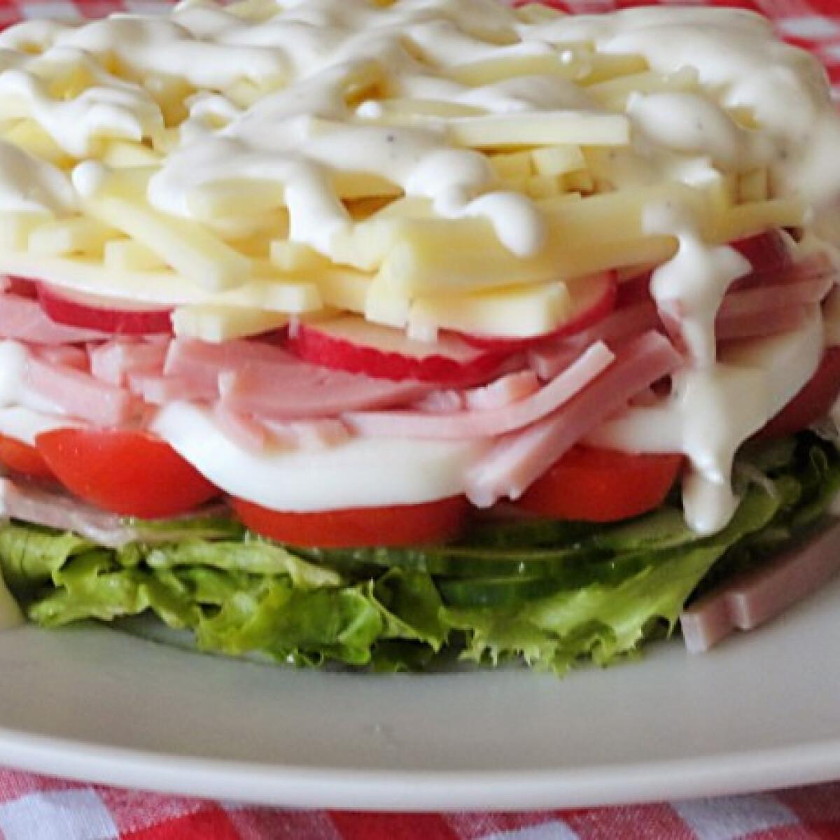 Ezen a képen: Salátatorta