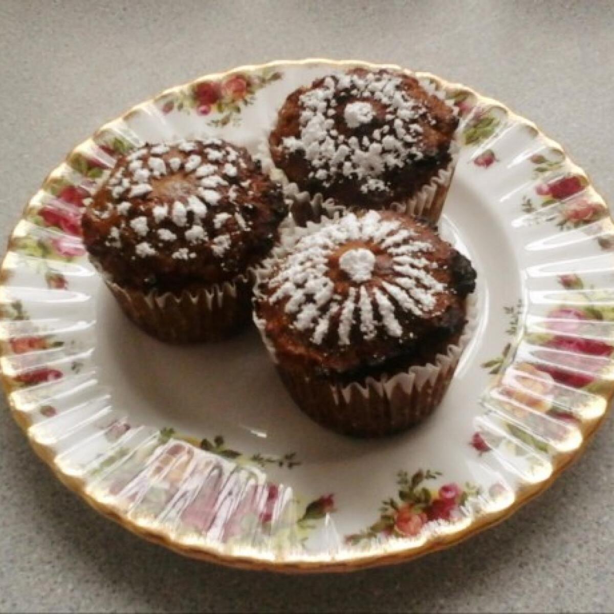Ezen a képen: Paleo mandarinos sütőtök muffin