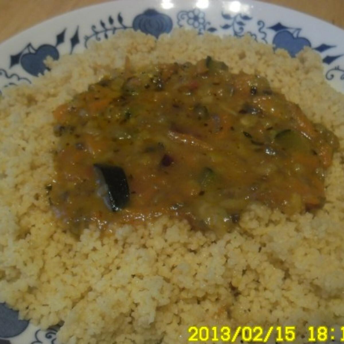 Ezen a képen: Gombás couscous