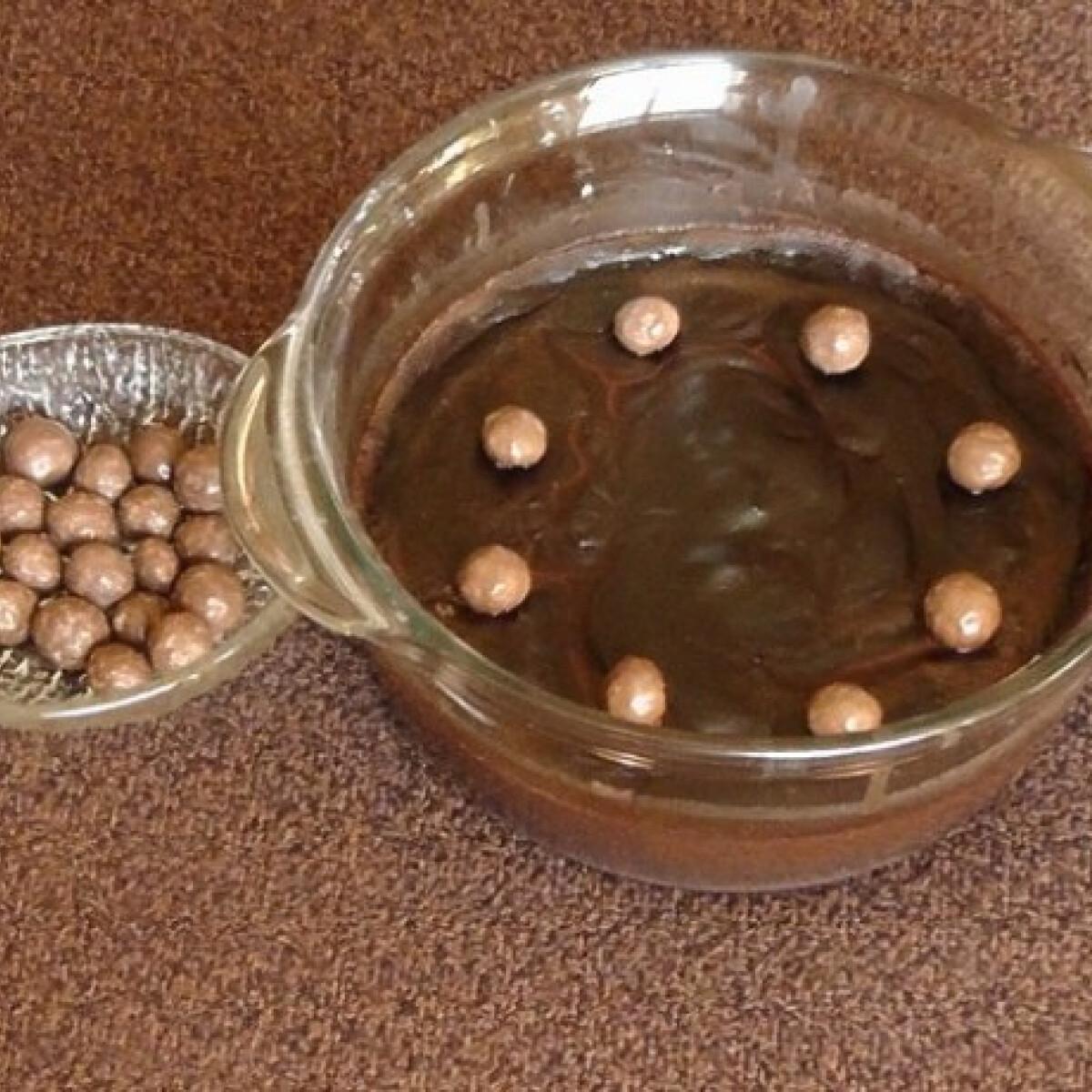 Ezen a képen: Csokipuding keményítővel mikróban