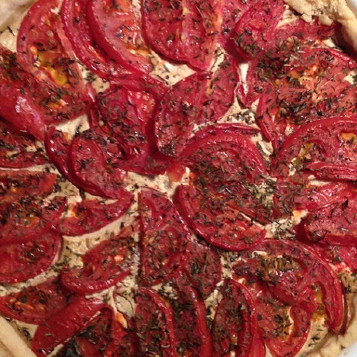 Provence-i naplemente - paradicsomos pite
