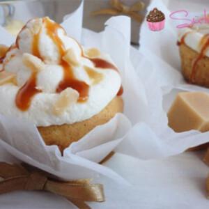 Francia krémes cupcake