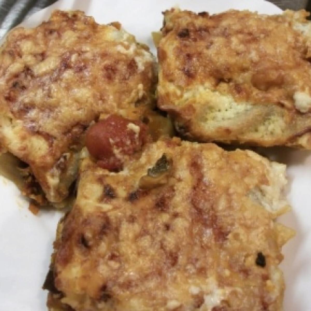 Ezen a képen: Vegetáriánus lasagne Lecsólány konyhájából