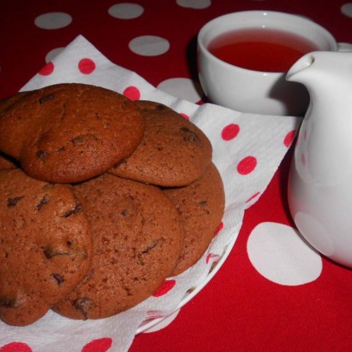Ezen a képen: Diós-csokoládés cookies