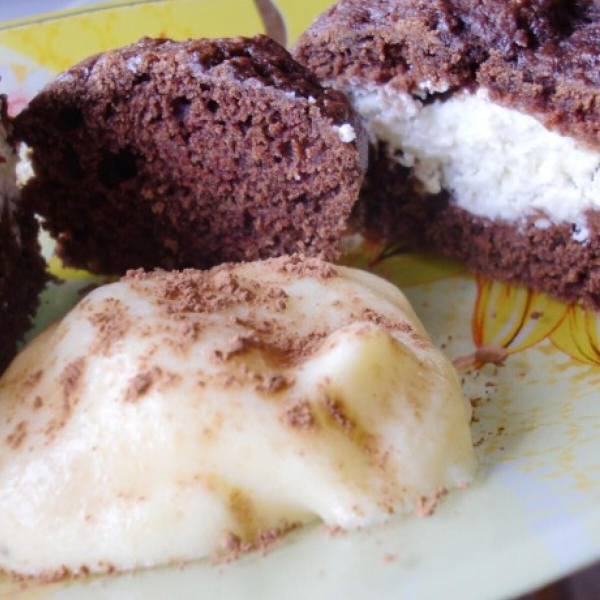 Ezen a képen: Puha kakaós muffin gluténmentesen