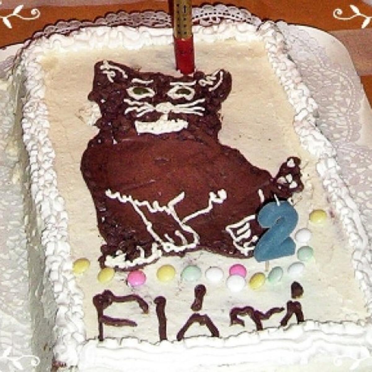 Ezen a képen: Tejszínes-pudingos torta Gogi Mónitól
