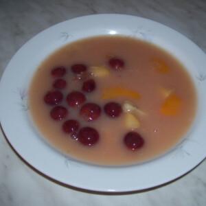 Tejmentes gyümölcsleves ahogy Vera készíti