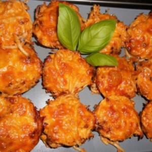 Spaghetti muffin egyszerűen