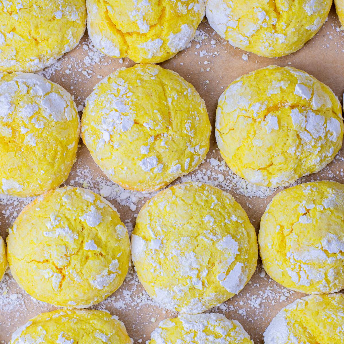 Citromos pöfeteg keksz
