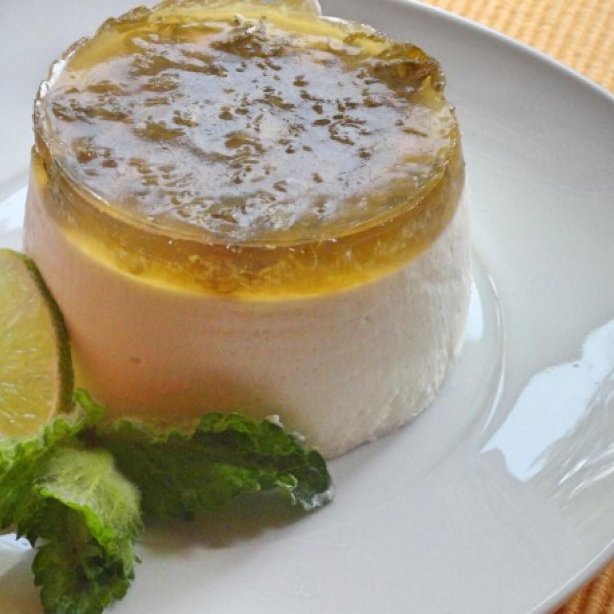 Lime-os joghurtkrém mentás almazselével