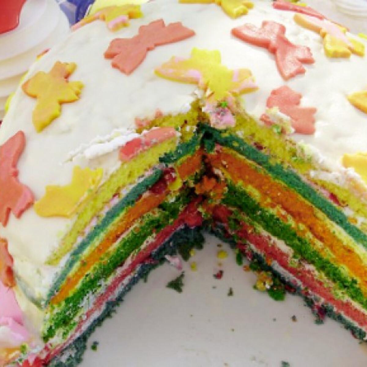Ezen a képen: Színes torta pillangókkal