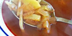 Krumplileves halászlé ízzel