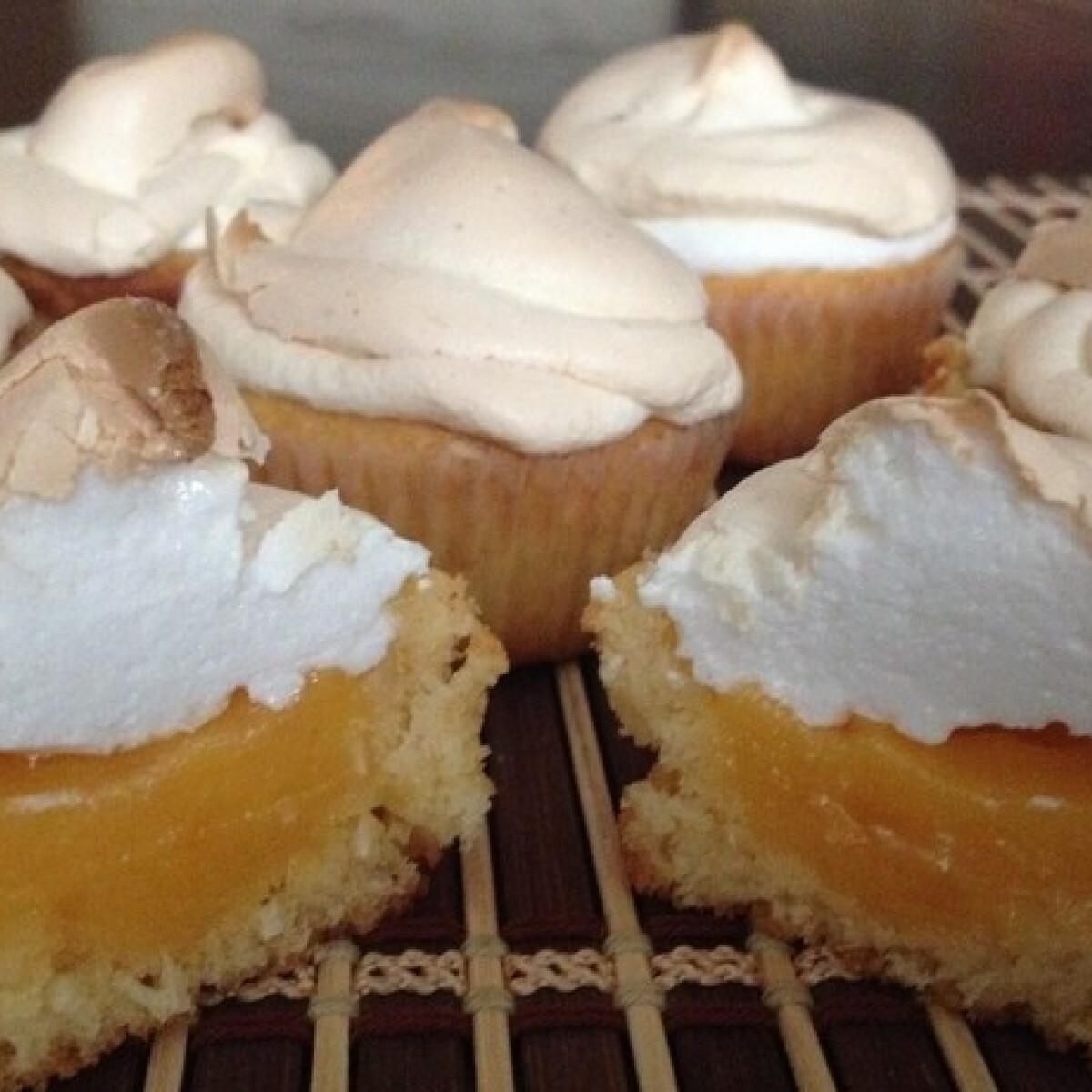 Citromkrémes habcsók-muffin