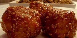 Kínai szezámmagos csirkegolyó